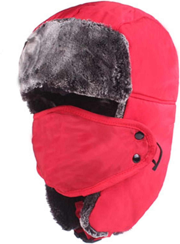0f29969d4ac14c SANOMY Unisex Bomber Trooper Trooper Trooper Trapper Hat,Winter Faux Fur Ear  Flap Aviator Snow Hat Warm Troope Cap Balaclava 89f777