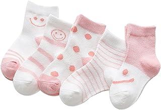 Black Temptation, 5 pares unisex del bebé Calcetines, 1-3 años de edad del bebé del algodón Calcetines #02