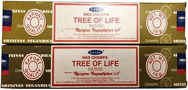 Satya Nag Champa 生命之树香棒每包 2 支 15 克