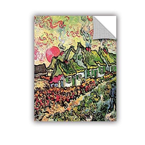 ArtWall Art Appealz Wandbild, abnehmbar, Vincent Vangogh's Cottages Reminiscent an North, 35,6 x 45,7 cm