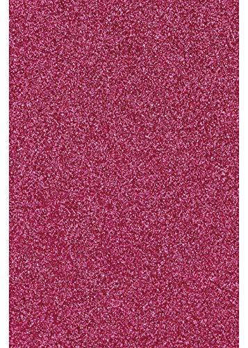 Glitter/Glitzer A4 Transferfolie/Textilfolie zum Aufbügeln auf Textilien - perfekt zum Plottern geeignet - einzelne Folien, Glitter 2:Hot Pink
