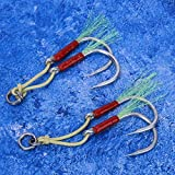 Kevlar Line Mustad Troll Hook, Mano de Obra Fina, Anzuelo de Pesca en el mar, 2 tamaños, sin Rebabas, señuelo de Pesca Troll, Resistente a la corrosión para caballa, atún, mar,(7/0#)