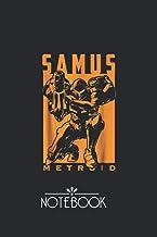 Notebook: Nintendo Metroid Samus Returns Warrior Pose Pretty and Professional Black Cover Design Journal Notebook Journal ...