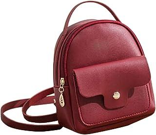 Women PU Leather Backpack Travel Handbag Girls Rucksack Shoulder School Bag Phone Bag