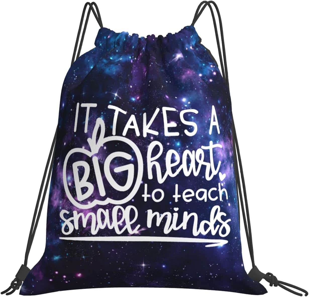 It Takes a Big Heart to Minds Backpack Teach Drawstring Little Max Shipping included 57% OFF f