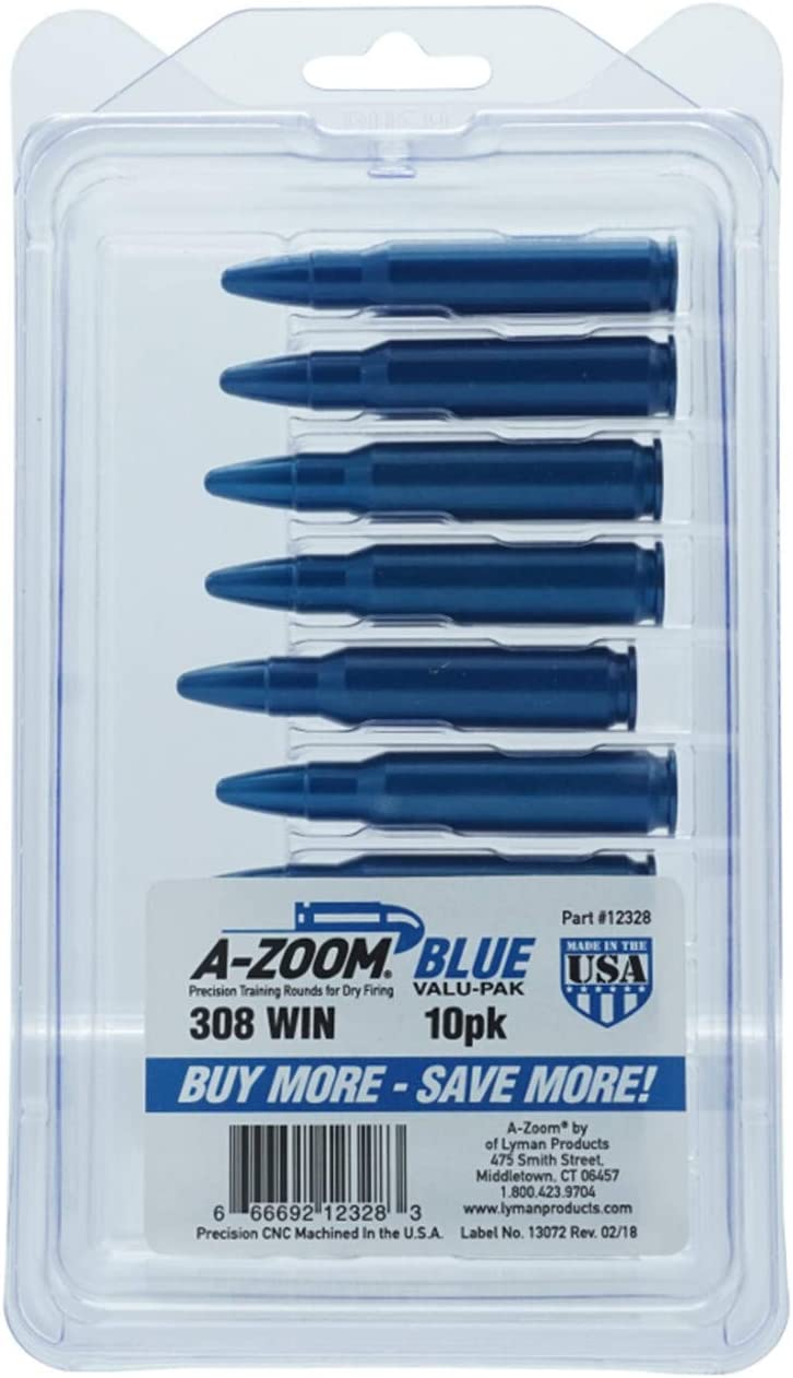 A-ZOOM Centerfire Rifle Snap Caps.308 12328 10-Pack Blue Tucson Mall Ranking TOP20
