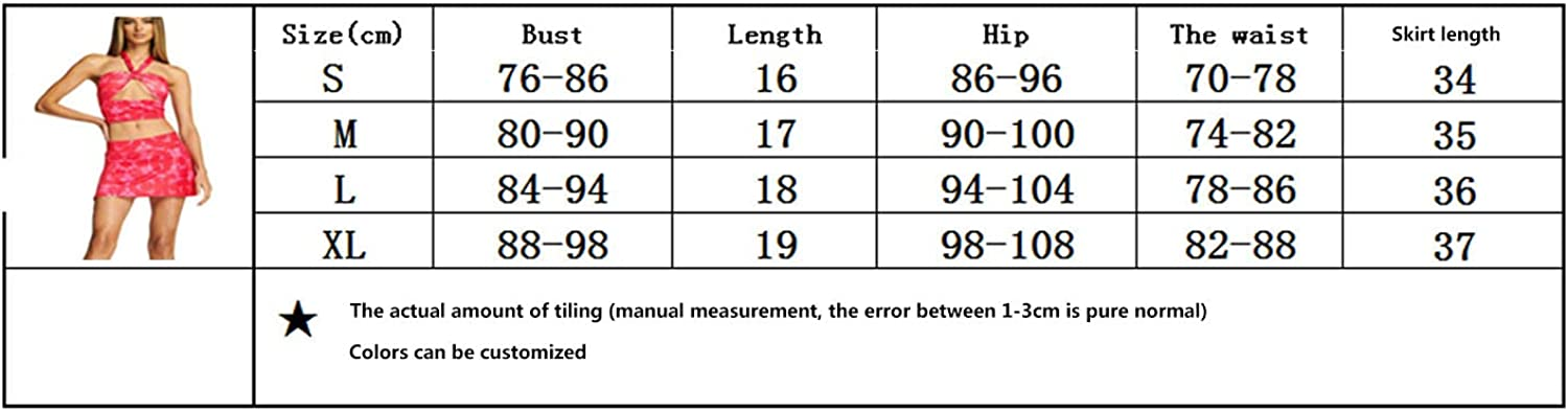 Women Y2K Sexy 2Pcs Clothes Set Sleeveless Hollow Out Crop Halter Neck Tops and Mini Skirt Outfits