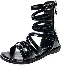 MIKA HOM Kids Girls Fashion Gladiator Summer Beach Princess Sandals