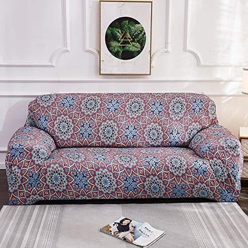 Fundas elásticas de Bohemia para sofá, Funda de sofá Universal, Funda de sofá seccional elástica de algodón, Funda de Esquina, Funda de sofá A14, 3 plazas