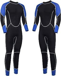Niiwi Full Body Wetsuit - Men and Women 2.5mm Premium Neoprene - Scuba Diving Thermal Full Suit - Designed for Surfing, Snorkeling, Swimming, Kayaking, Water Sports