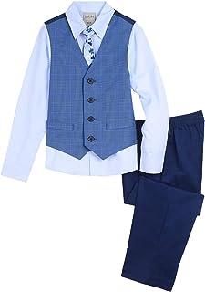 Kenneth Cole Boys 4-Piece Formal Vest Set Business Suit Vest