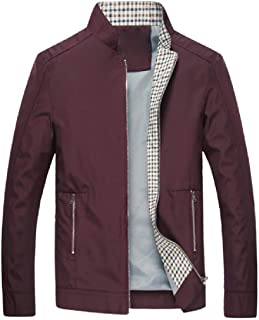 Mogogo Men's Lightweight Windbreakers Thin Stand Collar Wrap Coat