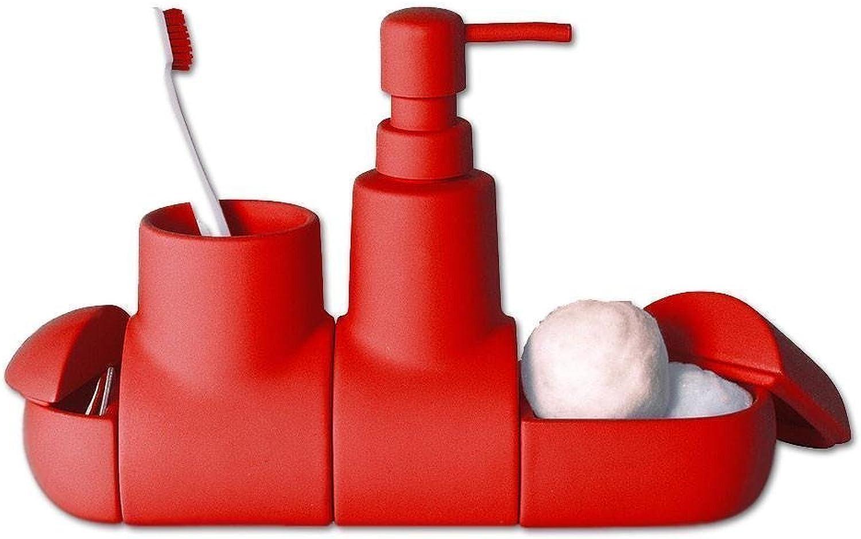 Seletti Submarino Bathroom Set Red
