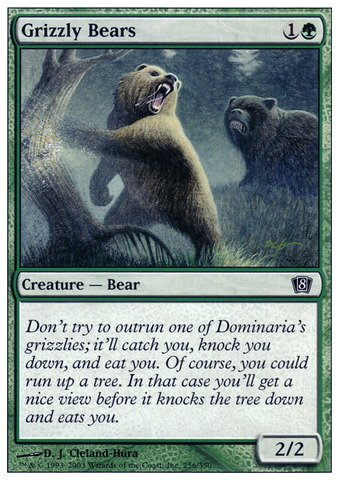 Magic The Gathering - Grizzly Bears - Eighth Edition - Foil