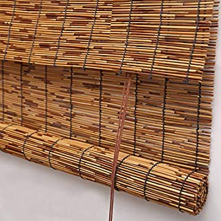 PASSENGER PIGEON Reed Window Blinds, Light Filtering Roll Up Blinds with Valance for Garden,Patio,Gallery,Balcony 41