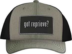 One Legging it Around got Reprieve? - Leather Black Metallic Patch Engraved Trucker Hat