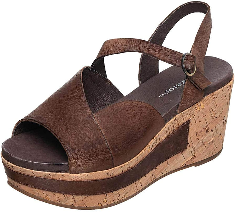 Antelope Women's Khloe Leather Wedge Platform Sandals