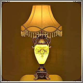 Guo Europäische Stil Stil Stil Wohnzimmer Schlafzimmer Romantische Lampe Glas Harz Europäische Stil Retro Tischlampe E27 Licht Mund B06VXKL9Q8  Gewinnen Sie das Lob der Kunden c4beb8