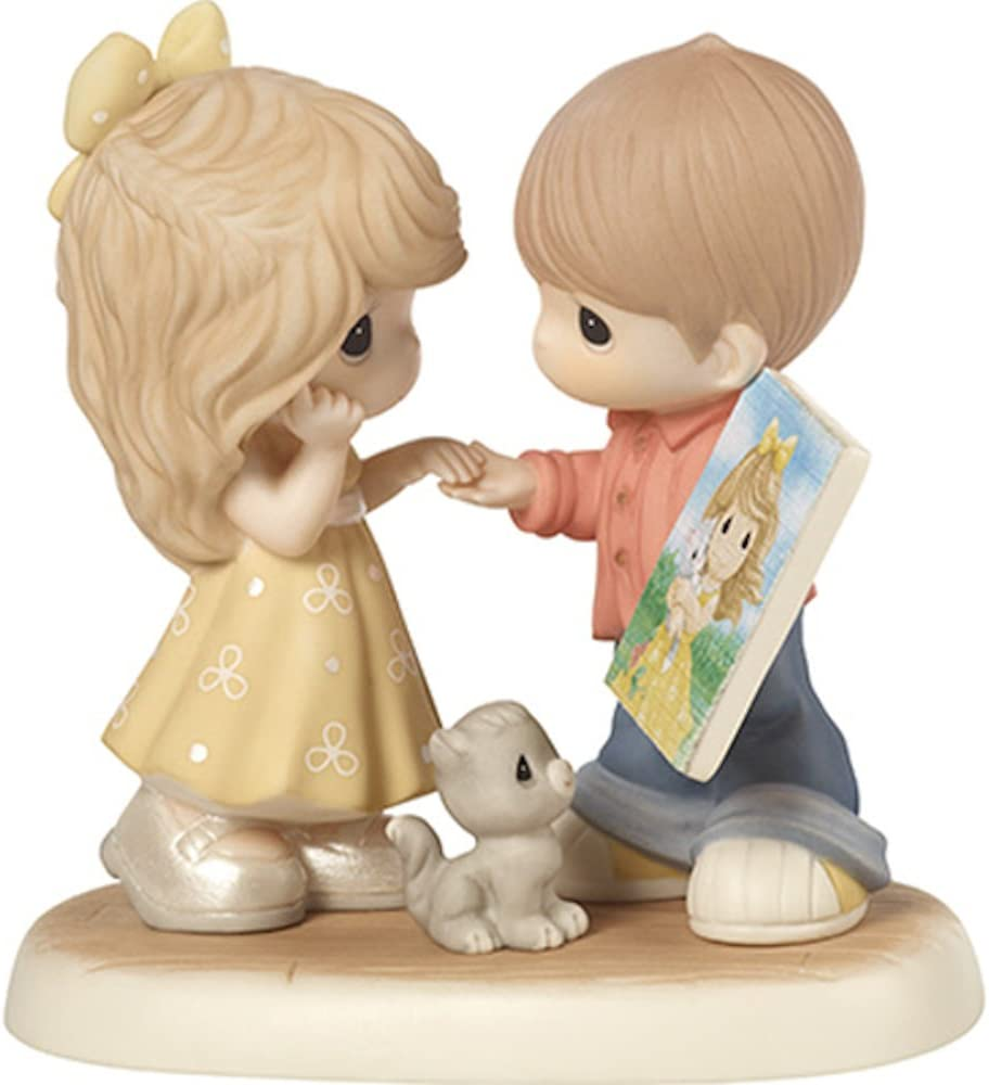 PMI Precious Moments CC189003 2018 Collectors Club Sharing The Precious Moments We Make Together Porcelain Figurine