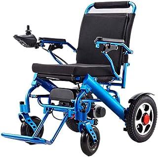 RDJM De Peso Ligero Plegable sillas de Ruedas eléctrica Ligera Silla de Ruedas eléctrica Silla de Ruedas, Doble 250W Motors, Todo Terreno, Sola batería portátil de sillas de Ruedas eléctricas
