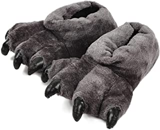 CHNMARKET Chaussons Unisex Patte de léopard Ours Chaussons Pantoufles Confortables Chaud