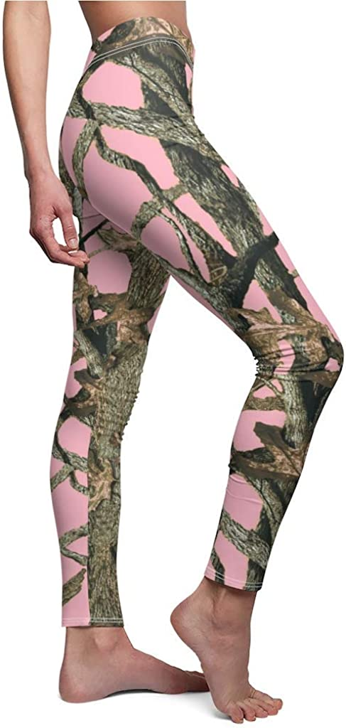 Southern Designs Light Pink Camouflage Leggings Camo - Ladies Si