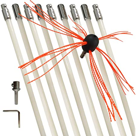 Chimney Brushes Rods Kit Electrical Rotary Sweep Cleaning Fireplace Cleaner Sets