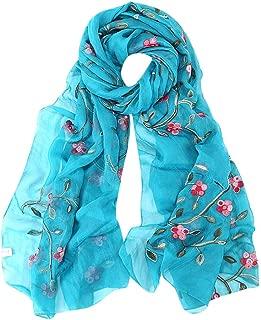 Hijab Scarfs for Women Hot Sale, Ladies Embroidery Chiffon Wrap Shawls Headband Muslim Scarf