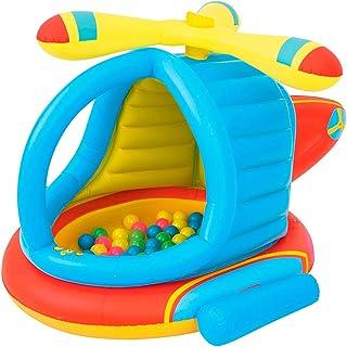 لعبة قابلة للنفخ على شكل طائرة للاطفال، تتضمن 50 كرة، (BW52217)