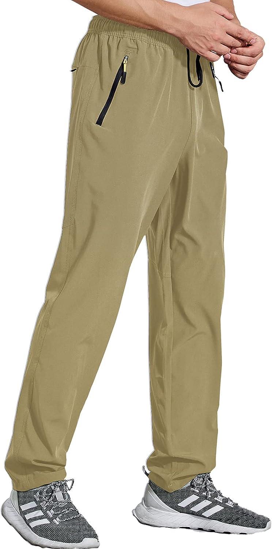 Osflydan Max 75% OFF Men's Workout Athletic Pants Waterproof L sale Waist Elastic