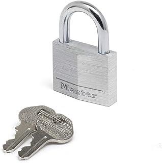 Master Lock 9150EURD Key Padlock in Aluminium, Grey, 5 x 6.8 x 1.4 cm