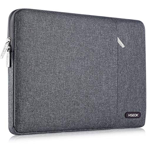 Laptop Sleeve 13 Inch Case Bag, Compatible 2018-2020 MacBook Air A2179 A1932, 13 Inch MacBook Pro A2251 A2289 A2159 A1989 A1706 A1708, Water-Resistant Notebook Cover with Pocket,Linen Gray
