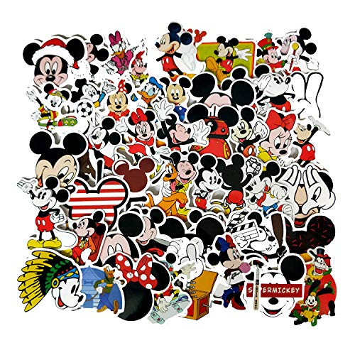 50 Non-Ripetizione Cartoon Animazione Mickey Mouse Bambini Adesivi Adesivi Valigia Chitarra Personalità Graffiti Adesivi