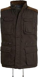 shelikes Mens Gilet Safari Hiking Outdoor Multi Pockets Waistcoat Sleeveless Zip Top Jacket