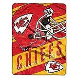NORTHWEST NFL Kansas City Chiefs Micro Raschel Throw Blanket, 46' x 60', Deep Slant