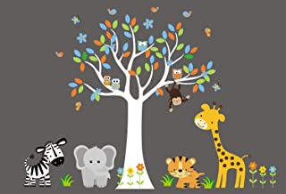 Nursery Wall Decals Boys or Girls - Wall Decals for Kids - Kids Wall Stickers - Safari Animal Decals - Jungle Themed Nursery Decals - Baby Brother - Nursery Ideas