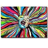 YHZSML Artista británico Conrad Pop Retrato Arte Dibujos Animados Impresos Pintura al óleo sobre Lienzo Arte de la Pared Imagen para Sala de Estar A 40x60cm
