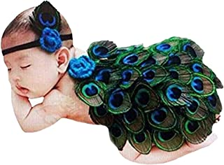 Newborn Baby Peacock Costume Infant Photography Prop
