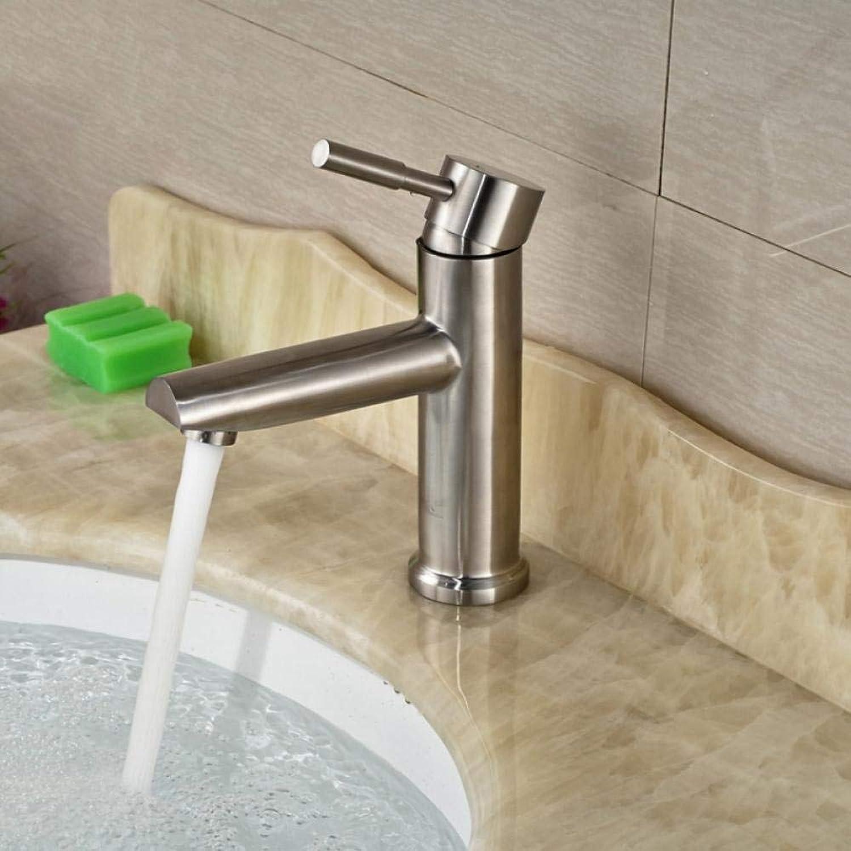 Waschbecken Waschtischarmatur Einhebel Armatur Nickel gebürstet