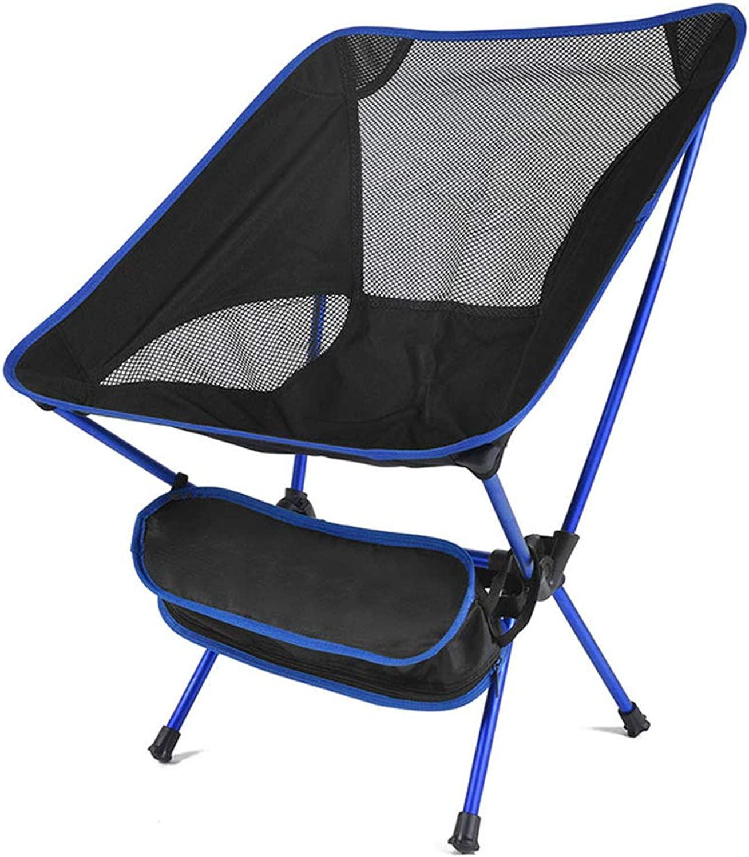 Portable Folding Fishing Chair, Camping Chair Seat 600D Oxford Cloth Aluminium Fishing Chair for Outdoor Picnic BBQ Beach Chair