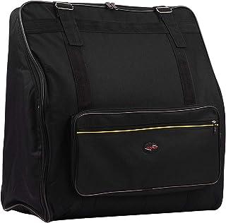 Bulufree Accordion Case Gig Bag Mochila con capa intermedia anticolisión para 120 accesorios de teclado musical de acordeones bajos