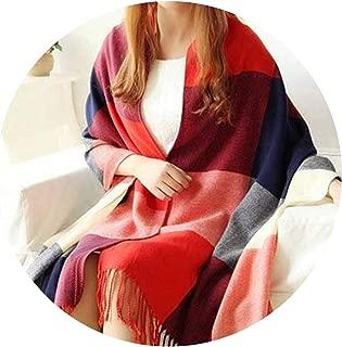 19050cm Autumn Winter Female Wool Plaid Scarf Women Cashmere Scarves