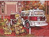 DIY pintura para adultos por números kits de pintura al óleo de lienzo para niños juguetes creativos decoración del arte del hogar regalo - dibujos animados camión de bomberos hija h