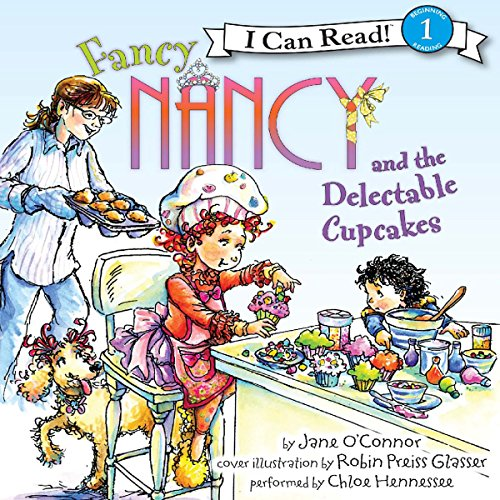 Fancy Nancy and the Delectable Cupcakes audiobook cover art