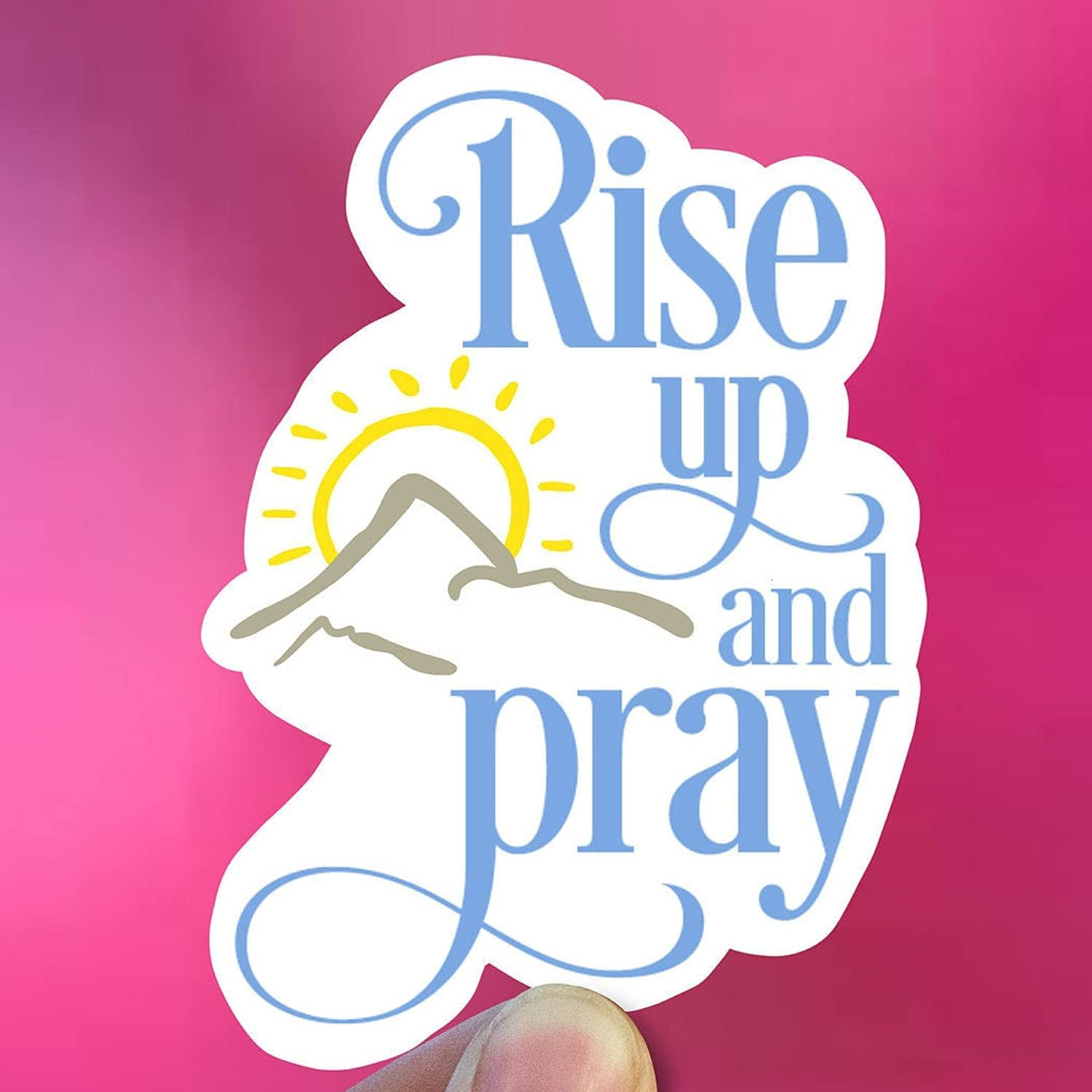 Rise up and Pray Vinyl Ranking integrated 1st place Stickers Safety and trust Bottle Stick Laptop Decal Water
