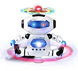 Webby Dancing Robot with 3D Lights and Music (Multi-Color)