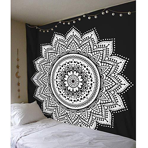 KHKJ Tapiz de Mandala Indio para Colgar en la Pared, tapices de Almohadilla para Dormir Bohemia, Playa de Arena, Toalla, Alfombra, Manta, Tienda de campaña A1 150x130cm