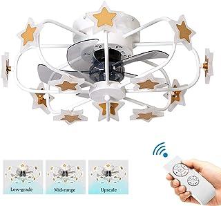 Ventilador de techo con luz creativa 8 + 4 cabezas de Smart Light 360 ángulo de la luz de los Niños ventilador Habitación ° con la luz a distancia Ventilador de techo control dormitorio Silencio Venti