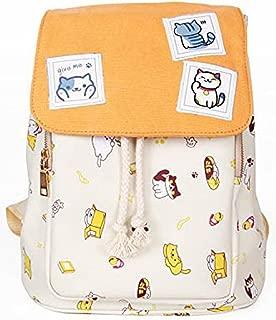 Neko Atsume Anime Cover Type Lolita Style Cute Cat Backpack Shoulders Bag Canvas Bag