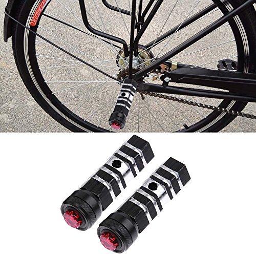 2 piezas de estribos de bicicleta clavijas de acrobacia hexagonales BMX clavijas de acrobacia de pie de aleaci/ón Cilindro Pedal de eje de bicicleta de carretera de monta/ña Clavijas de aluminio